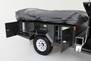 Side compartments of camper trailer