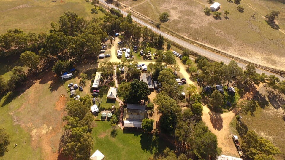 Willowbrook farm from above